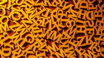 Abstract image of letters of the alphabet